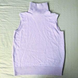 TSE Cashmere sleeveless turtleneck sweater